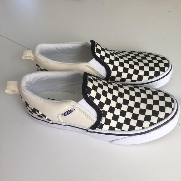 1b267146188 Vans SlipOn Checkerboard Off White Black Sz 1. M 5b99978c2e14785db2728662